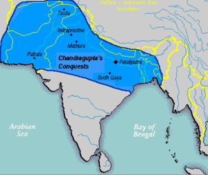Chandragupta Maurya (TV series) - Chandragupta extended the borders of his empire towards Seleucid Persia after his conflict with Seleucus c. 305 BCE.