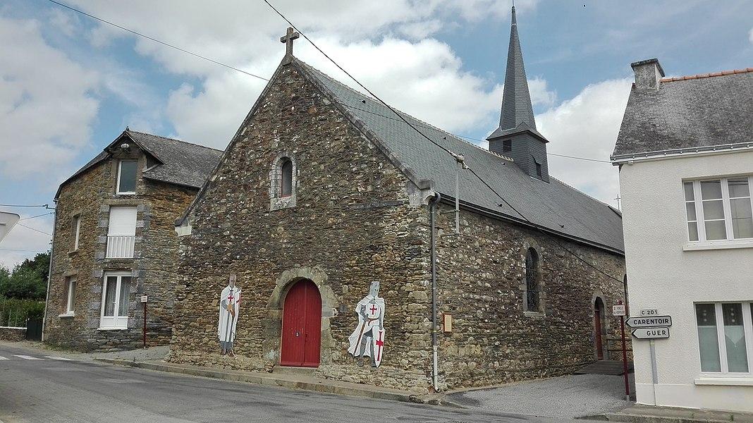 Chappelle templière de Carentoir, Morbihan, Bretagne, France, 2017