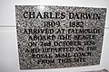 Charles Darwin Voyage of The Beagle plaque Falmouth Cornwall.jpg