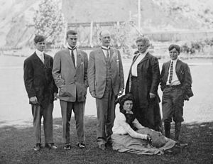 Charles Doolittle Walcott - Charles Doolittle Walcott and his family in  Provo, Utah around 1907. Walcott often took his family along on collecting trips. Click on the photo for more information about the Walcotts.