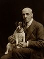 Charles Firmin Cuthbert with dog. Photograph by Debenham, 19 Wellcome V0027646.jpg