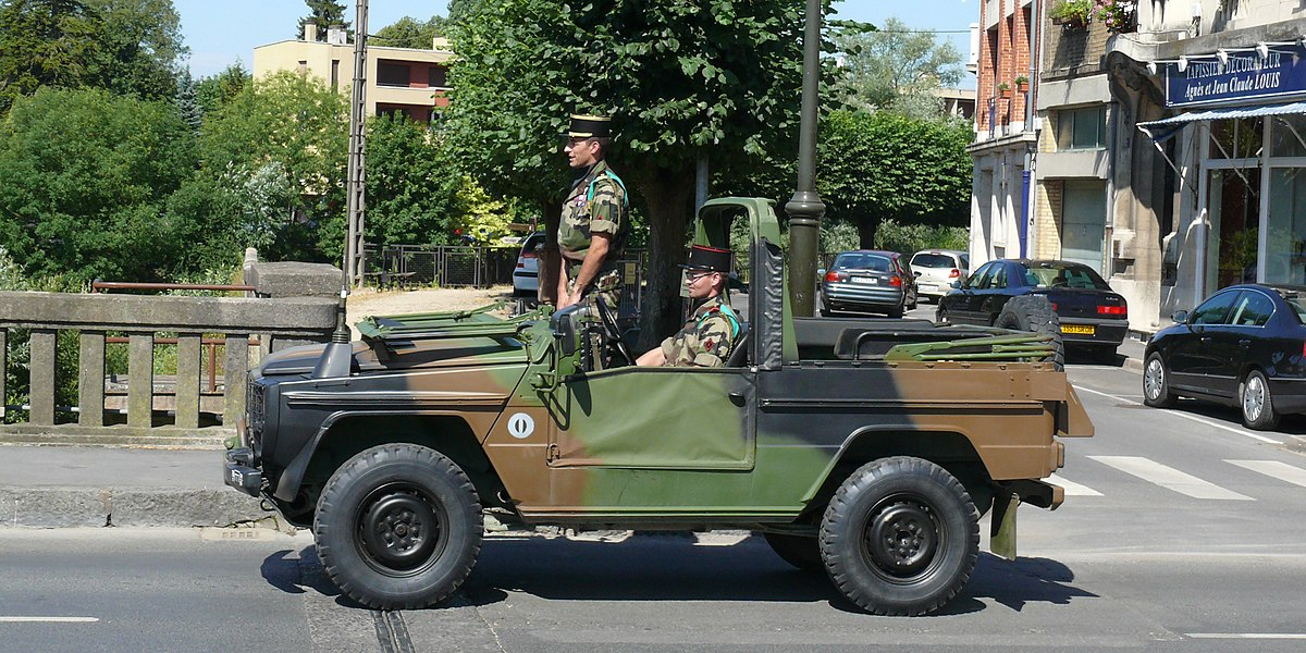 Peugeot P4 of the 3rd regiment engineers, 1st Mechanised Brigade of the French Armée de Terre during the Bastille Day Parade in Charleville Mézières, 2010.