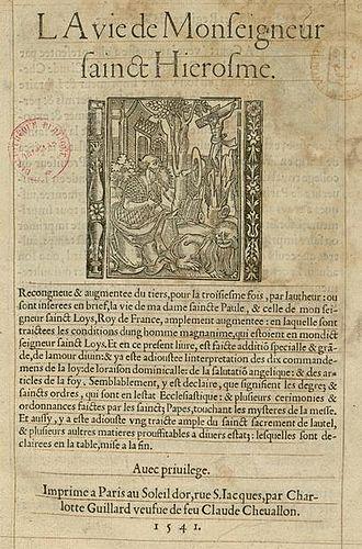 Charlotte Guillard - A book printed by Guillard in 1541