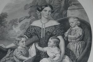 Princess Charlotte of Prussia (1831–1855) - Charlotte, Hereditary Princess of Saxe-Meiningen and her three children.