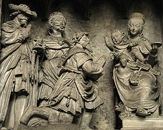 Star of Bethlehem - Adoration of the Magi, Chartres Cathedral, by Jehan de Beauce, France, 16th century.