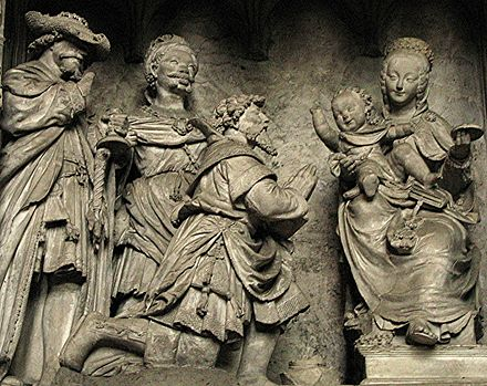 Adoration of the Magi, Chartres Cathedral, by Jehan de Beauce, France, 16th century. Chartres2006 039.jpg