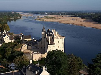 Château - Château de Montsoreau, was built in 1453 directly in the Loire riverbed.