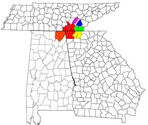 Image Result For Ga Map By Counties