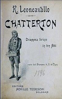 <i>Chatterton</i> (opera) opera