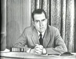 Nixon delivering the Checkers speech