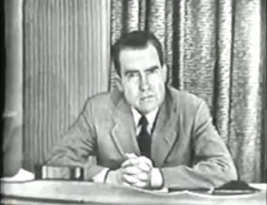 Senator Richard Nixon delivers the Checkers speech