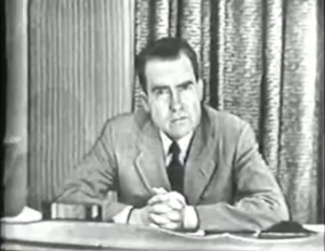 Checkers speech - Nixon delivers the speech