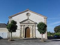 Chenay (Deux-Sèvres) ancien temple protestant, salle polyvalente.JPG