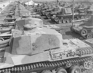 Tanks in the Japanese Army - IJA 4th Armored Division with Type 3 Chi-Nu tanks and Type 3 Ho-Ni III tank destroyers