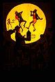 Children watching a magic lantern show. Coloured transparenc Wellcome V0011232.jpg