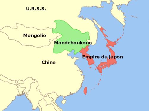 Carte Chine Japon.Mandchoukouo Wikipedia