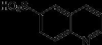 Strukturformel von Chinolin-6-sulfonsäure
