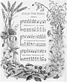 Chorus of Hold the Fort, ornate hardcover edition of sheet music, 1877 (Hold the Fort!, Scheips).jpg