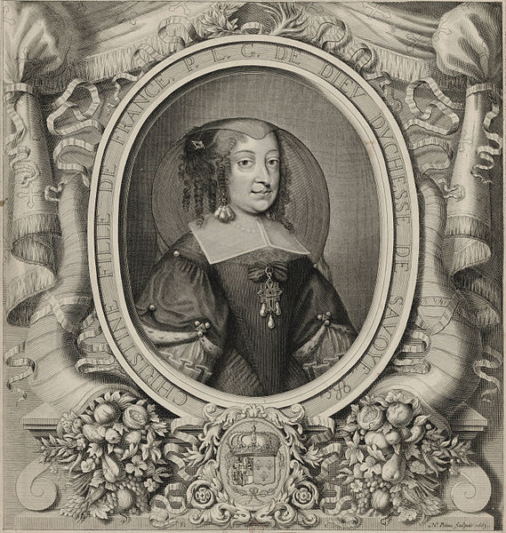File:Christine, Daughter of France, By The Grace of God, Duchess of Savoy (Engraved, 1663).jpg