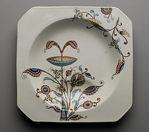 Christopher Dresser - Christopher Dresser. Soup Plate, Persia Pattern, 1886 Brooklyn Museum