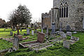 Church of St Mary Hatfield Broad Oak Essex England - churchyard east of chancel.jpg