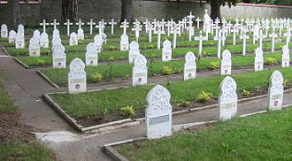 Islam in Besançon - Graves of colonial soldiers in the cemetery of Saint-Claude, Besançon.