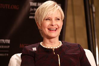 Cindy McCain - McCain speaking at an event at The McCain Institute in November 2013