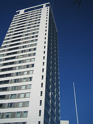 YIT - The Cirrus apartment block, Finland's tallest high-rise building, constructed by YIT between 2004 and 2007.
