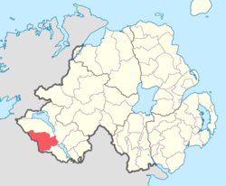 Location of Clanawley, County Fermanagh, Northern Ireland.