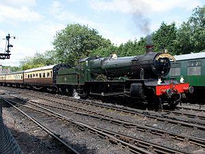 GWR 7800 Class 7812 Erlestoke Manor - 7812 Erlestoke Manor waiting to depart Bridgnorth on the Severn Valley Railway in 2012.
