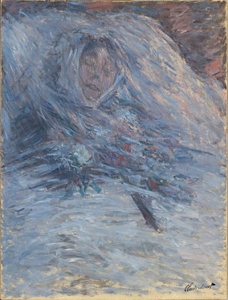 File:Claude Monet, 1879, Camille sur son lit de mort, oil on canvas, 90 x 68 cm, Musée d'Orsay, Paris.jpg
