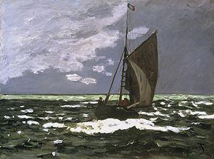 Breezing Up (A Fair Wind) - Image: Claude Monet Seascape Storm