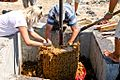 Cleaning the grape press in Akrotiri.jpg