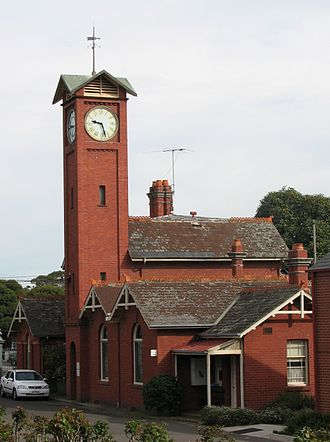 Boroondara General Cemetery - The cemetery office and clocktower.