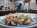 Close-up of fried rice on plate at a restaurant somewhere in Wulai.jpg
