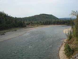 Coal River (Canada) - Coal River in August 2010 as seen from Highway 97 near Cranberry Rapids