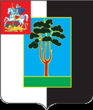 Chernogolovka - Image: Coat of Arms of Chernogolovka (Moscow oblast) (2001)