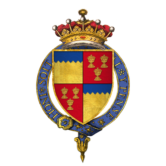 James Butler, 5th Earl of Ormond - Quartered arms of Sir James Butler, 5th Earl of Ormond, 1st Earl of Wiltshire, KG