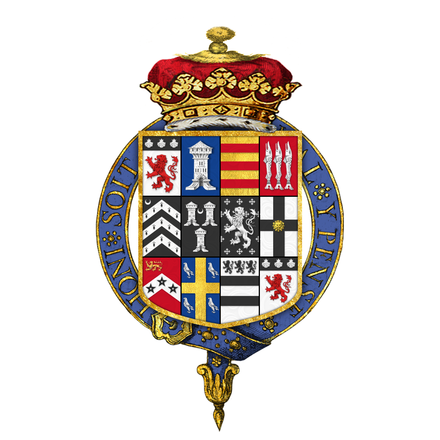 Coat of arms of John Russell, 4th Duke of Bedford, KG, PC, FRS Coat of arms of John Russell, 4th Duke of Bedford, KG, PC, FRS.png