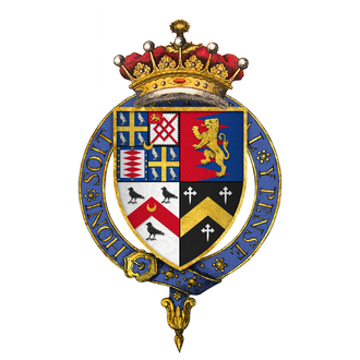 Thomas Wriothesley, 1st Earl of Southampton - Quartered arms of Sir Thomas Wriothesley, 1st Earl of Southampton, KG