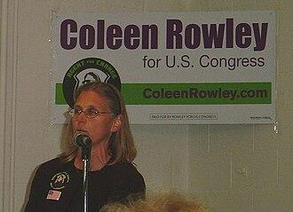Coleen Rowley - Coleen Rowley at her rally in Rosemount, Minnesota on September 17, 2006