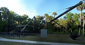 National Register of Historic Places listings in Collier County, Florida - Image: Collier Seminole SP dredge pano 01