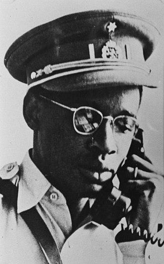 1960 Force Publique mutiny - Joseph-Désiré Mobutu, appointed chief of staff of the Armée Nationale Congolaise