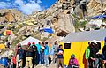 Colorful view of mountaineers camps at Urdukas campsite at Baltoro Glacier.JPG