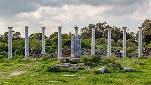 Columns in Roman gymnasium, Salamis, Northern Cyprus.jpg