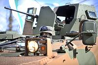 Com capacidade para transportar 11 tripulantes, o Guarani pode ser equipado com canhão de 30mm e metralhadora .50 ou 7,62mm. (14464836224)