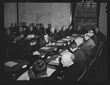 A meeting of the Combined Munitions Assignments Board in February 1943.