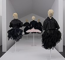 7077ab8a97b5 Garments on display at the Rei Kawakubo Comme des Garçons Art of the  In-Between show at the Metropolitan Museum of Art