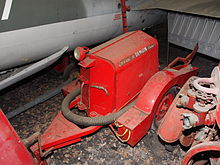 Commune dDemuin (Somme), Fire fighting pump trailer.JPG