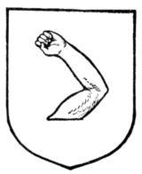 Fig. 263.—An arm embowed to the dexter.